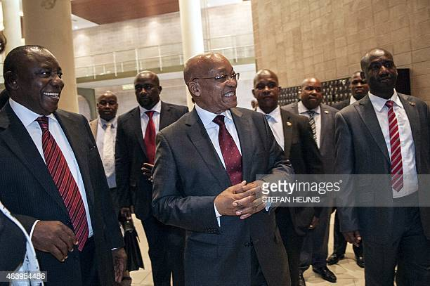 Jacob Zuma South Africa's President and chairman of the peace and security section of the regional bloc Southern African Development Community and...