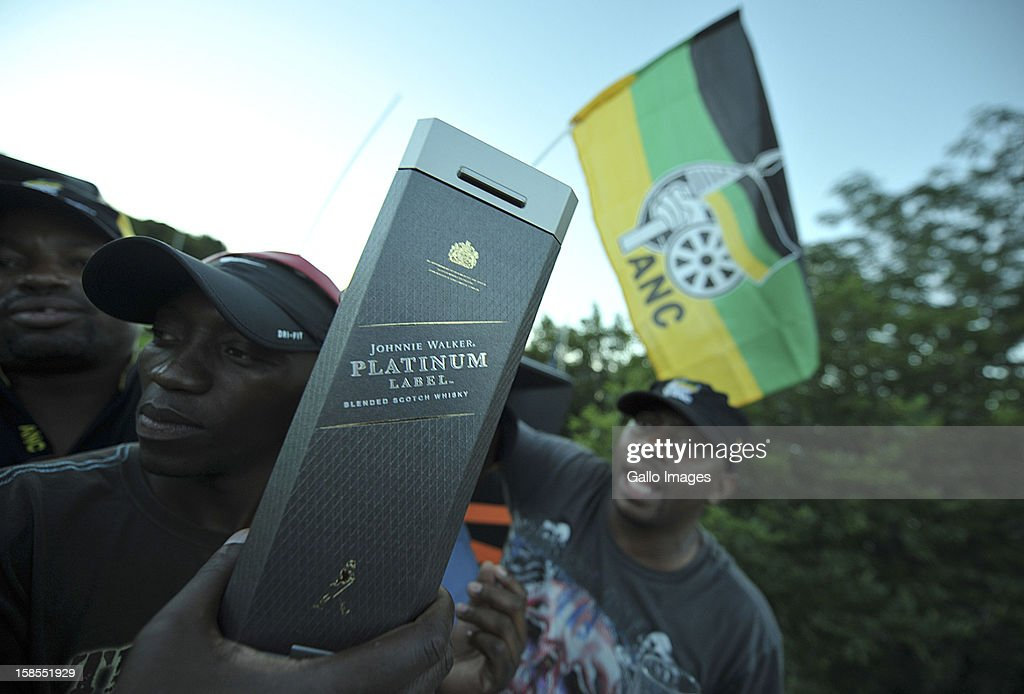 Jacob Zuma supporters celebrate on Day 3 of the ANC Conference which saw Jacob Zuma re-elected as ANC President on December 17, 2012, in Bloemfontein, South Africa. Cyril Ramaphosa was elected Deputy President, Gwede Mantashe Secretary General and Jesse Duarte as Deputy Secretary General.