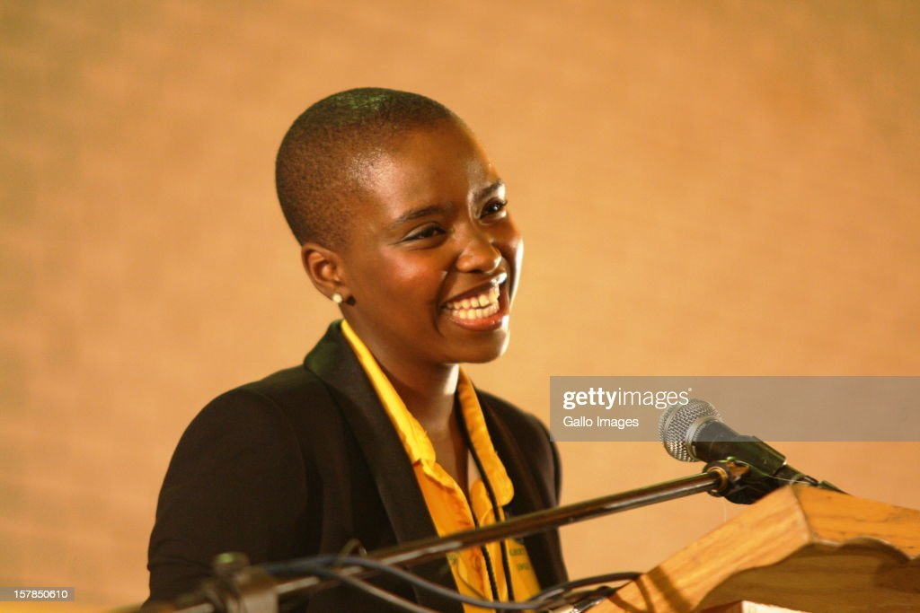 Jacob Zuma's daughter, Thuthukile Zuma speaks at the Jacob Zuma Centennial lecture on December 6, 2012 in Potchefstroom, South Africa. The lecture is part of the ANC's centenary celebrations honouring the party's presidents, and is the last before their elective conference in Mangaung.