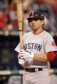 Jacoby Ellsbury of the Boston Red Sox gets ready to bat against the Kansas City Royals during the game on September 21 2009 at Kauffman Stadium in...