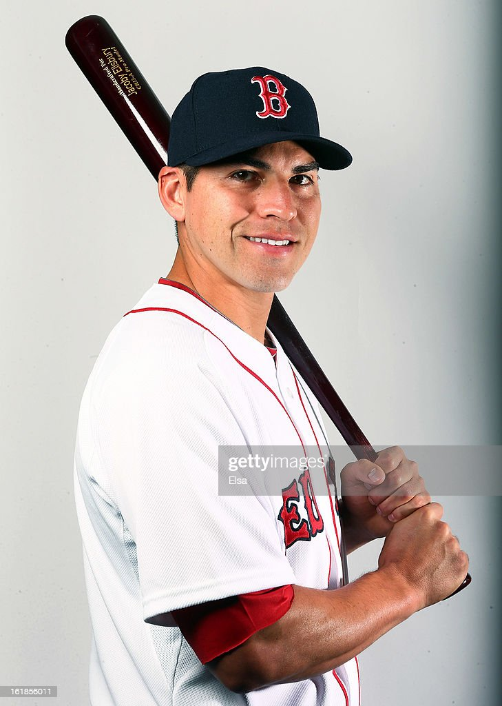 Jacoby Ellsbury #2 of the Boston Red Sox poses for a portrait on February 17, 2013 at JetBlue Park at Fenway South in Fort Myers, Florida.