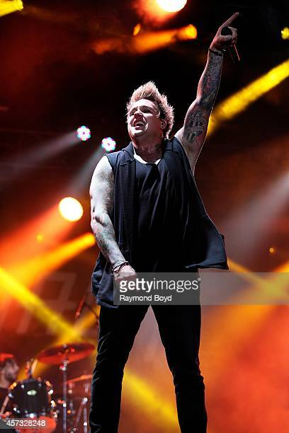 Jacoby Shaddix from Papa Roach performs during the 'Louder Than Life' Music Festival in Champions Park on October 05 2014 in Louisville Kentucky