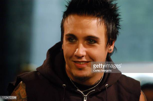 Jacoby Shaddix of Papa Roach during Papa Roach Visits Fuse's 'Daily Download' August 12 2004 at Fuse Studios in New York City New York United States