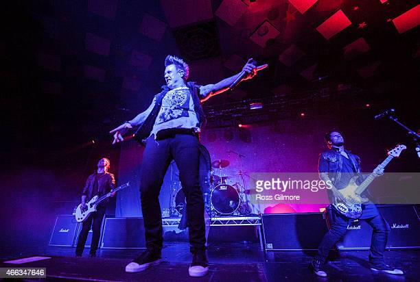 Jacoby Shaddix of Papa Roach performs on stage at Barrowlands Ballroom on March 14 2015 in Glasgow United Kingdom