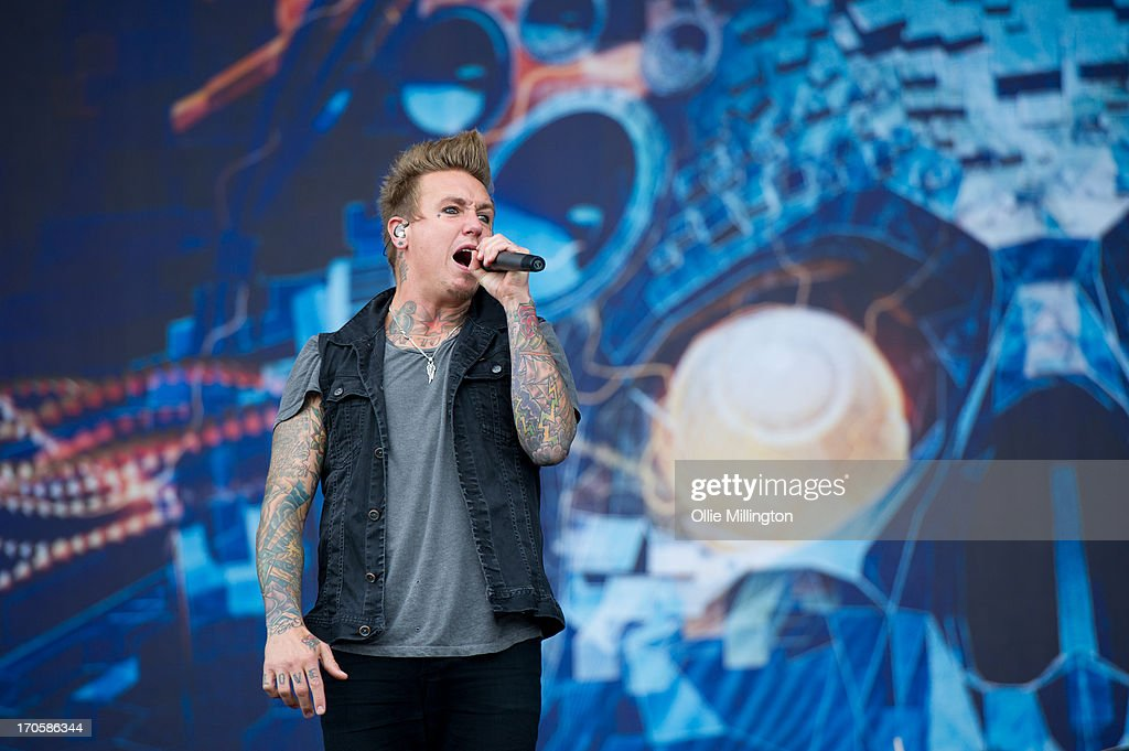 Jacoby Shaddix of Papa Roach performs onstage at Day 1 of The Download Festival at Donnington Park on June 14, 2013 in Donnington, England.