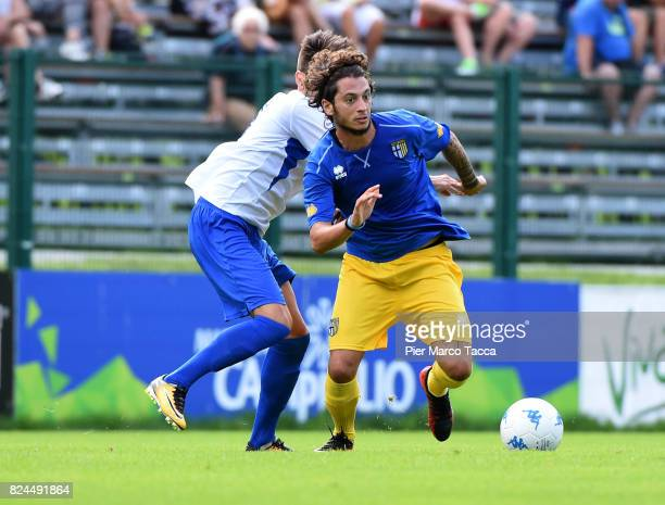 Jacopo Dezi of Parma Calcio in action during the preseason friendly match between Parma Calcio and Dro on July 30 2017 in Pinzolo near Trento Italy