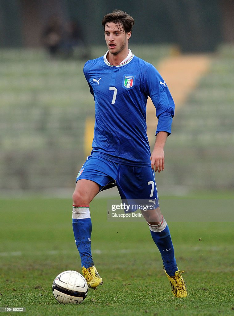 Jacopo Sala of Italy U21 in action during the friendly match between Italy U21 and Rappresentativa Serie B at Stadio Libero Liberati on December 18, 2012 in Terni, Italy.