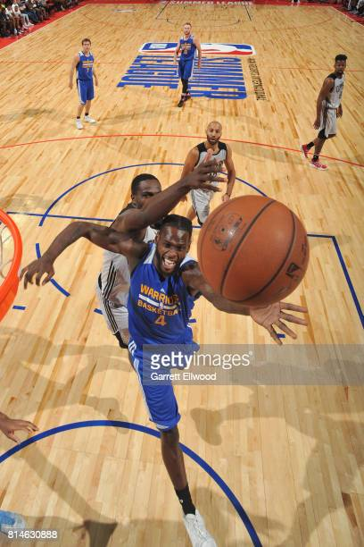 JaCorey Williams of the Golden State Warriors shoots the ball against the LA Clippers on July 14 2017 at the Thomas Mack Center in Las Vegas Nevada...