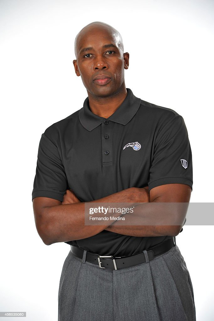 <a gi-track='captionPersonalityLinkClicked' href=/galleries/search?phrase=Jacque+Vaughn&family=editorial&specificpeople=201747 ng-click='$event.stopPropagation()'>Jacque Vaughn</a> Head Coach of the Orlando Magic poses for a portrait at Orlando Magic Media Day on September 29, 2014 at Amway Center in Orlando, Florida.