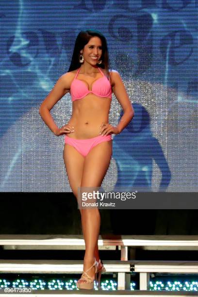 Jacqueline Algarra Miss Atlantic County participates in the 'Swimsuit' competition at the 2017 Miss New Jersey Pageant on June 15 2017 in Ocean City...