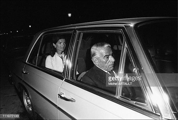 Jacqueline And Aristote Onassis In Paris Jackie And Aristote Onassis In The Car In Paris France On October 06 1973