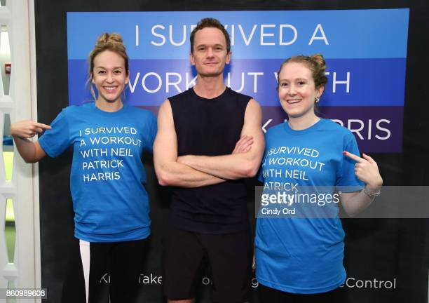 Jacqueline Andriakos Neil Patrick Harris and Diana Pearl join Cigna in a private workout session with media and influencers in NYC as part of the TV...