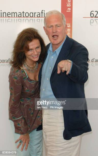 Jacqueline Bisset and Director John Irvine attend a photocall for their new film The Fine Art Of Love Mine Ha Ha at the 62nd Venice Film Festival at...