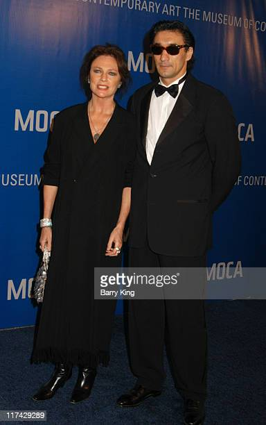 Jacqueline Bisset and Emin Boztepe during The Museum Of Contemporary Art Celebrates 25th Anniversary Arrivals at MOCA at the Geffen Contemporary in...