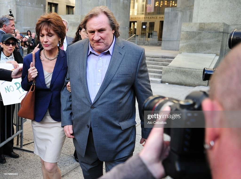 Jacqueline Bisset and Gerard Depardieu are seen on the set of an untitled film on May 3, 2013 in New York City.