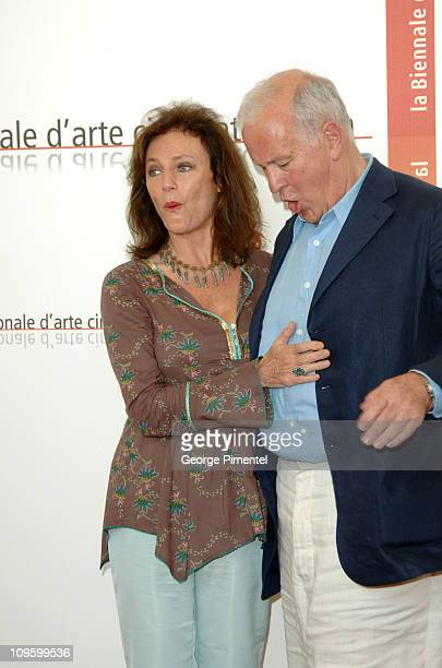 Jacqueline Bisset and John Irvin Director during 2005 Venice Film Festival 'The Fine Art of Love Mine HaHa' Photocall at Casino Palace in Venice Lido...