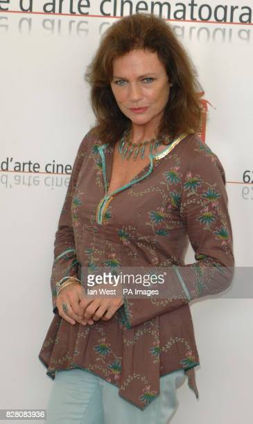 Jacqueline Bisset attends a photocall for her new film The Fine Art Of Love Mine Ha Ha at the 62nd Venice Film Festival at the Palazzo del Casino in...