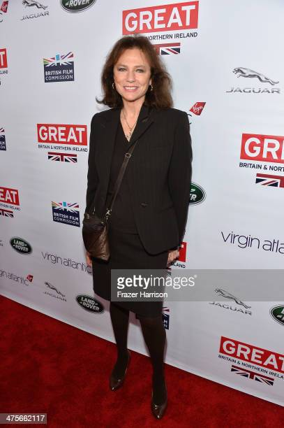 Jacqueline Bisset attends the 2014 GREAT British Oscar Reception at British Consul General's Residence on February 28 2014 in Los Angeles California