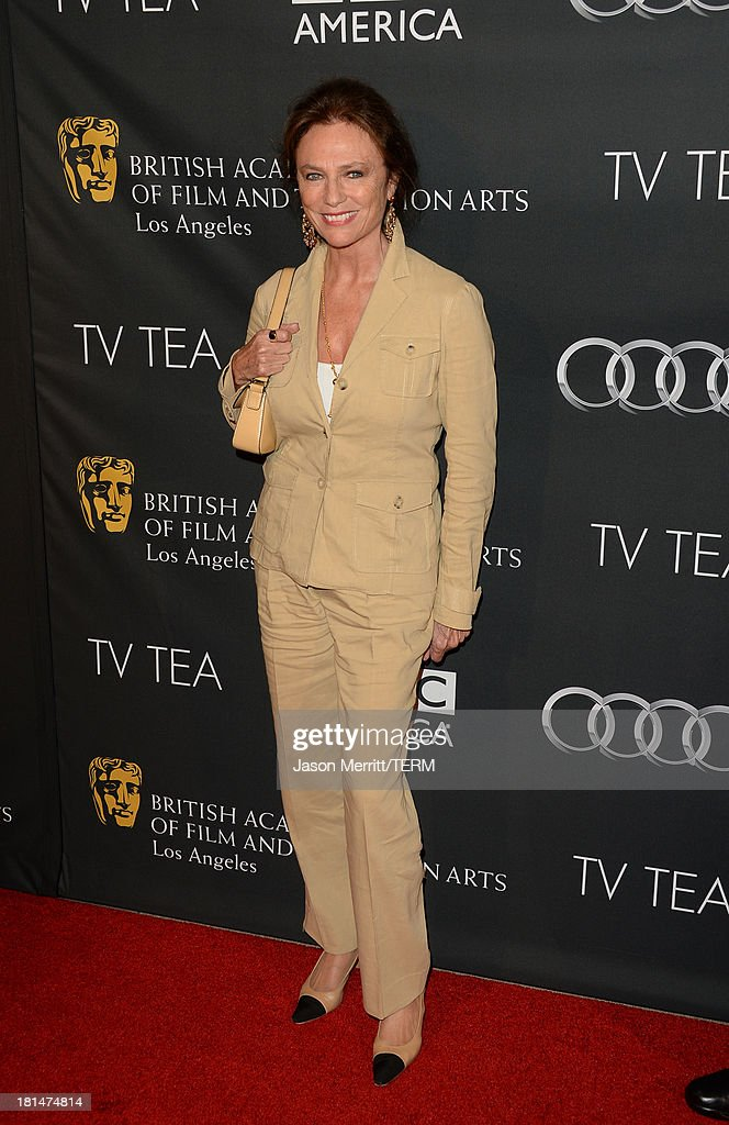 <a gi-track='captionPersonalityLinkClicked' href=/galleries/search?phrase=Jacqueline+Bisset&family=editorial&specificpeople=204696 ng-click='$event.stopPropagation()'>Jacqueline Bisset</a> attends the BAFTA LA TV Tea 2013 presented by BBC America and Audi held at the SLS Hotel on September 21, 2013 in Beverly Hills, California.