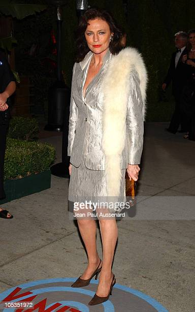 Jacqueline Bisset during 2004 Vanity Fair Oscar Party Arrivals at Mortons in Beverly Hills California United States
