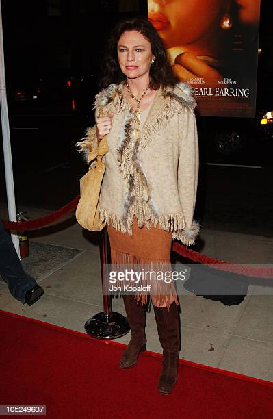 Jacqueline Bisset during 'Girl With A Pearl Earring' Los Angeles Premiere at The Academy of Motion Pictures Arts Sciences in Beverly Hills California...