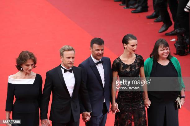 Jacqueline Bisset Jeremie Renier director Francois Ozon Marine Vacth and Myriam Boyer attend 'Amant Double ' Red Carpet Arrivals during the 70th...