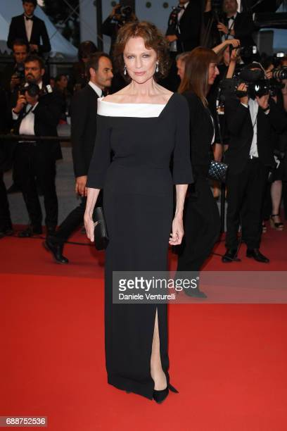 Jacqueline Bisset leaves after the 'Amant Double ' Red Carpet Arrivals during the 70th annual Cannes Film Festival at Palais des Festivals on May 26...