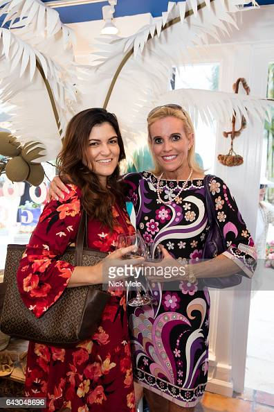 Jacqueline Bosch and Carol Anderson attend Figue Hosts Cocktails Benefitting The Young Friends of the Palm Beach Symphony at Figue on February 19...