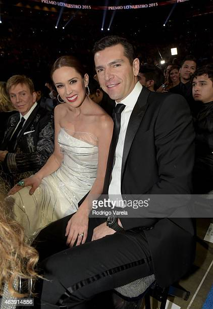 Jacqueline Bracamontes and Martin Fuentes attend the 2015 Premios Lo Nuestros Awards at American Airlines Arena on February 19 2015 in Miami Florida
