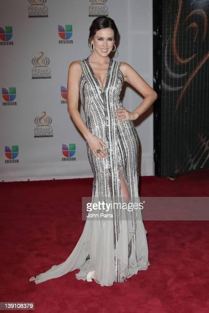 Jacqueline Bracamontes arrives at the Premio Lo Nuestro a La Musica Latina at American Airlines Arena on February 16 2012 in Miami Florida