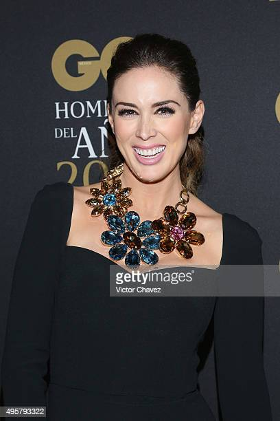 Jacqueline Bracamontes attends the GQ Mexico Men of The Year 2015 awards at Live Aqua Bosques hotel on November 4 2015 in Mexico City Mexico