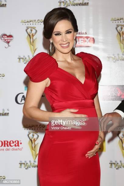Jacqueline Bracamontes attends the Premios Tv y Novelas 2014 at Televisa Santa Fe on March 23 2014 in Mexico City Mexico