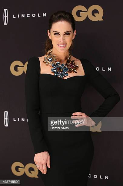 Jacqueline Bracamontes poses during the red carpet of GQ Mexico Men of The Year 2015 Awards at Live Aqua on November 04 2015 in Mexico City Mexico