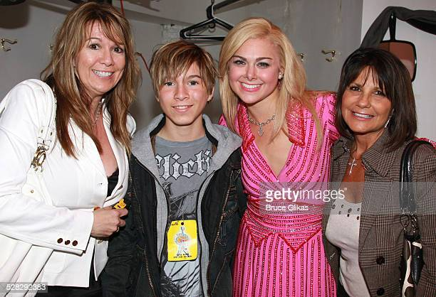 COVERAGE* Jacqueline Butcher Paul Butcher of Zoey 101 Laura Bell Bundy and Lynne Spears pose backstage at The Hit Musical Legally Blonde on Broadway...
