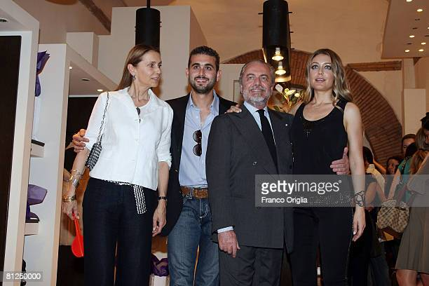 Jacqueline De Laurentis Edoardo De Laurentis producer Aurelio De Laurentis and Chiara De Laurentis attend the presentation of Chiara De Laurentis...