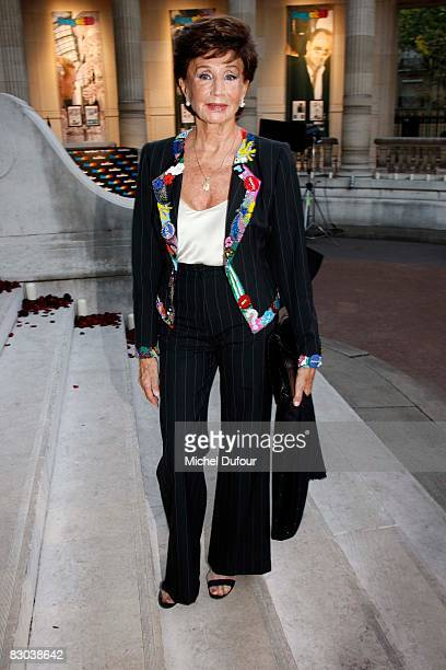 Jacqueline de Ribes attends a party to celebrate Suzy Menkes Twenty Year Partnership with The Herald Tribune at the Musee Galliera on September 27...