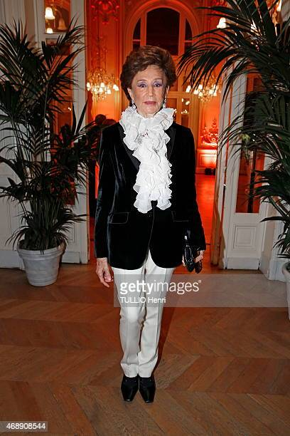 Jacqueline de Ribes attends the evening gala of the exhibition Pierre Bonnard in Paris France on march 23 2015