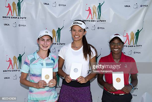 Jacqueline Feldman first place Trinity King second place and Jenna Teeter third place overall winner in the girls 1415 at the Drive Chip and Putt...