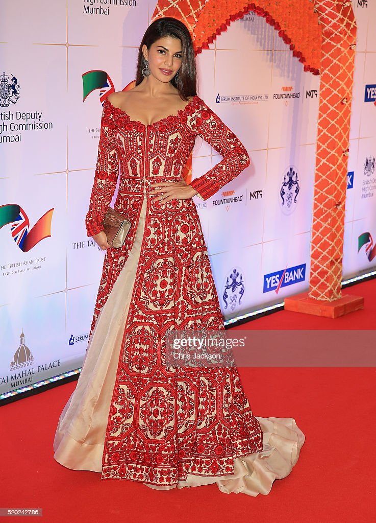 <a gi-track='captionPersonalityLinkClicked' href=/galleries/search?phrase=Jacqueline+Fernandez&family=editorial&specificpeople=5749256 ng-click='$event.stopPropagation()'>Jacqueline Fernandez</a> arrives for a Bollywood Inspired Charity Gala at the Taj Mahal Palace Hotel during the royal visit to India and Bhutan on April 10, 2016 in Mumbai, India.