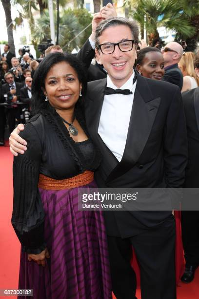 Jacqueline Greaves and Antonio Monda attend the 70th Anniversary screening during the 70th annual Cannes Film Festival at Palais des Festivals on May...