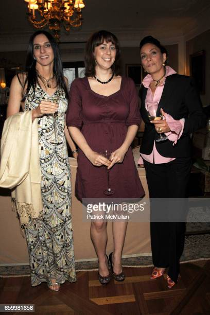 Jacqueline Harary Katie Jeffreys and Antonia Tamarichi attend Unveiling of Richard Mishaan's New Book MODERN LUXURY at Presidential Suite on May 20...