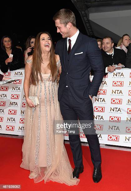 Jacqueline Jossa and Dan Osborne attend the National Television Awards at 02 Arena on January 21 2015 in London England