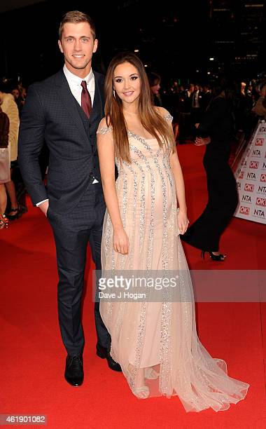 Jacqueline Jossa and Dan Osbourne attend the National Television Awards at 02 Arena on January 21 2015 in London England