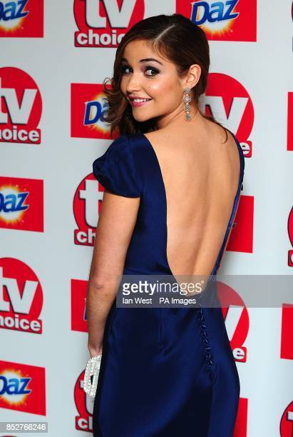 Jacqueline Jossa arriving for the 2013 TV Choice awards at the Dorchester Hotel London