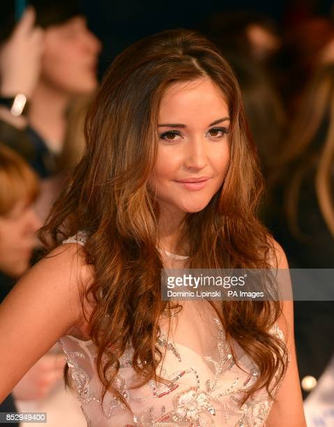 Jacqueline Jossa arriving for the 2014 National Television Awards at the O2 Arena London