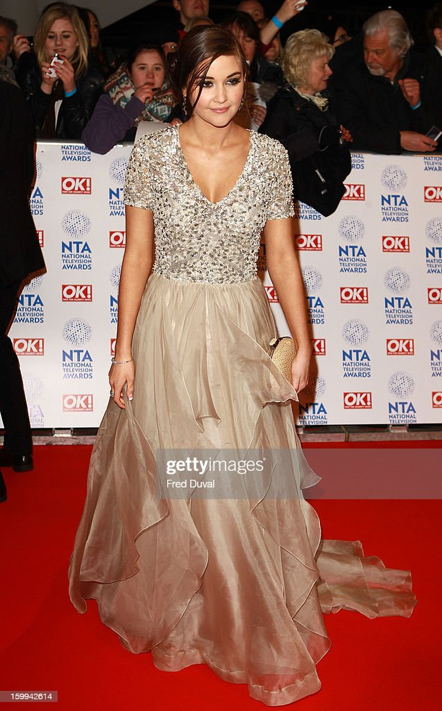 Jacqueline Jossa attends the National Television Awards at 02 Arena on January 23, 2013 in London, England.