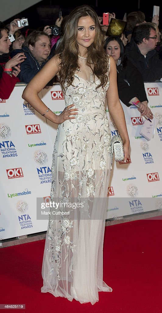 Jacqueline Jossa attends the National Television Awards at 02 Arena on January 22, 2014 in London, England.