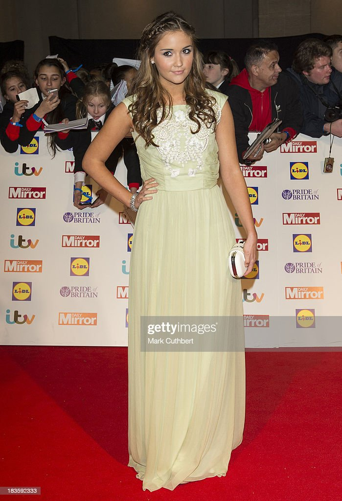 Jacqueline Jossa attends the Pride of Britain awards at Grosvenor House, on October 7, 2013 in London, England.
