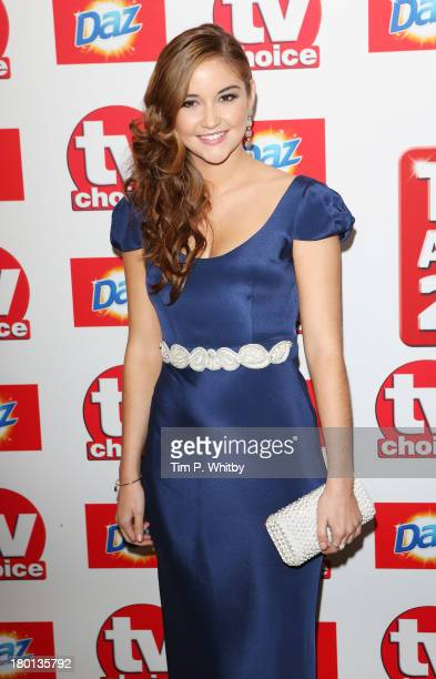 Jacqueline Jossa attends the TV Choice Awards 2013 at The Dorchester on September 9 2013 in London England
