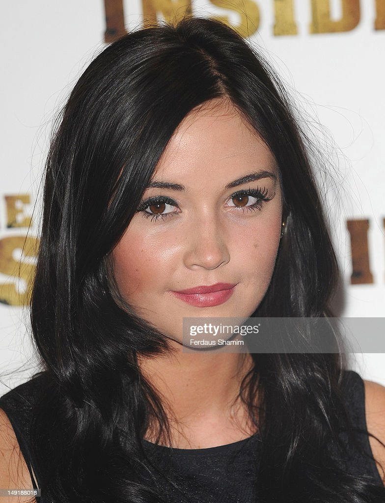 Jacqueline Jossa attends the UK premiere of The Man Inside at Vue Leicester Square on July 24, 2012 in London, England.